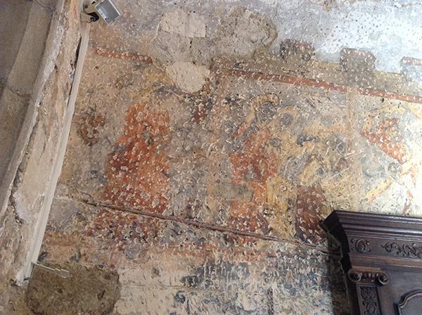 Partie de la fresque de l'Eglise de Revigny